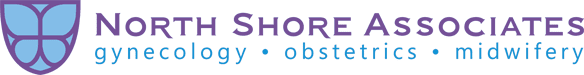 North Shore Associates logo with Midwifery, Obstetrics, and Gynecology texts